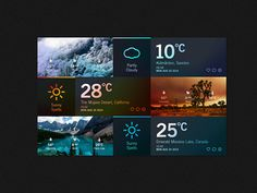 Weather Dashboard // Global Outlook UI/UX on Behance #flat #weather #ux #icon #interface #ui #iphone #dashboard #app #colors #photoshop #iso