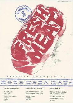 Fresh Meat, Alice Moloney Illustration #poster