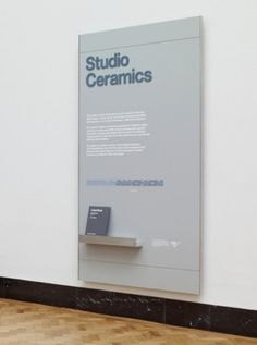 Ceramics Galleries | Cartlidge Levene #exhibition #type #signage #typography