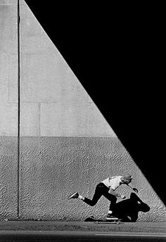 http://creaturesofcreativity.tumblr.com/ #contrast #black and white #skate #shadows
