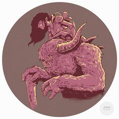 Buffalo on Behance #illustration #circle #design #art #fantasy #ogre #monster