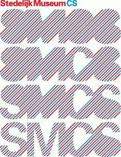 SMCS / Logotype - Experimental Jetset #helvetica #poster #experimental #lines #dutch #jetset
