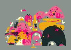 The Little Friends of Printmaking Ye Olde Shoppe #printing #screen #illustration #color