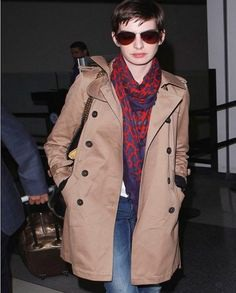 Anne Hathaway is an amazing actress, she looks really pretty in this Double Breasted Brown Coat that you can't resist wearing it. Buy Now Here #annehathaway #browncoat #doublebreastedcoat #actress #fashion #womenfashion #vogue #celebrity