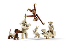 New Animals in the Ring #monkey #elephant #hippo #kay #wood #dachshund #bear #rabbit #bojesen #toy
