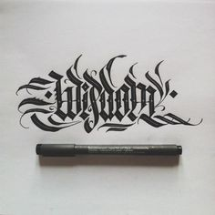 Calligraphy by Daniel Letterman