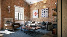 Loft apartment with an interior design made by Paul Vetrov - HomeWorldDesign (9)
