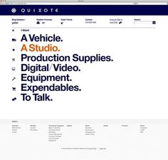 Quixote on the Behance Network #website #graphics #helvetica