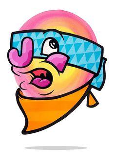 Masked Up And Ready #krap #print #artwork #illustration #stupid #painting #art #penfold #mr #fine