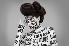 Typography | WANKEN - The Art & Design blog of Shelby White #typography #photograph #body painting