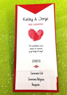 Wedding Invitation /Invitación de Boda #groom #invitation #impreso #print #novia #bride #novio #wedding
