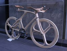 YojiroOshima WoodBike 3qFront.jpg #wood #bike #bicycle
