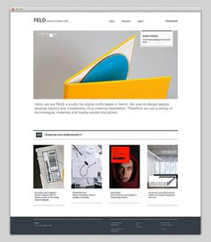 FELD #website #layout #design #web