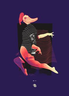 Personal Artworks on Behance #dance #light #collage #stripes