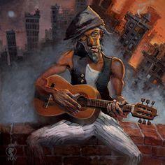 NOCHE DE MUSICA by Justin Bua #justin #bua #painting