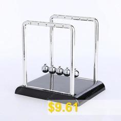 Newton #Metal #Ball #Movement #Chaotic #Office #Desktop #Pendulum #- #MIRROR #BLACK