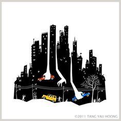 Beware of Those Hands Tang Yau Hoong wp #negative #illustration #tangyauhoong #space