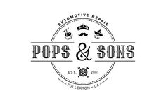 Pops & Sons #font #sons #pop #automotive #& #ivana #pops #and #logo #typography