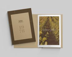 Domaine Glinavos #brochure #layout #wine #typography #editorial #vintage #classic #vineyard #overhead #greek #cover #embossed #lettering #cu