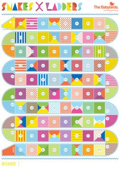 The Babybirds' Snakes & Ladders #snakes #print #& #ladders #diy #games