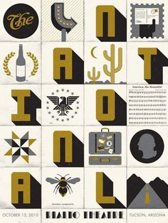 FFFFOUND! | GigPosters.com - National, The #national #gold
