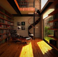 "Image Spark Image tagged ""room design"", ""interiors"", ""architecture"" jermshaw #libraries #bookcases #interiors #architecture"