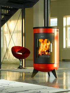 Wamsler – Metropolitan #interior #red #capsule #fire #fireplace