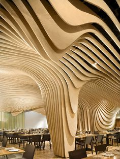 Meet at Wooden Waves #interior #architecture