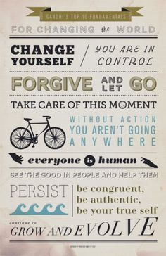 HOW Magazine Blog | Changing the World #poster #gandhi #typography #changing the world