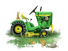 Tractor Hitching by Dave Mottram #illustration