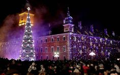 3 Christmas art tree in Warsaw Poland