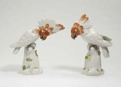 TWO COCKATOOS Meissen #porcelain