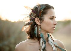 Catherine Bradshaw, earrings and ear cuffs by Spirit Tribe #cb