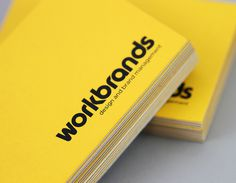 Workbrands businesscard #businesscard #uncoated #business #card #yellow #stock