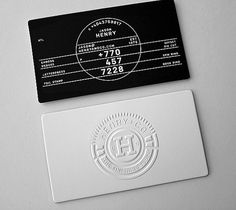 Henry + Co | Lovely Stationery #business card #stationery #emboss