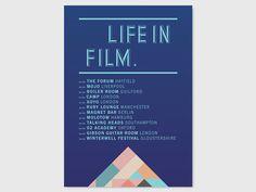 LIFE IN FILM FLYERS STUDIO MOROSS #print #flyer #geometric #moross #shape #kate
