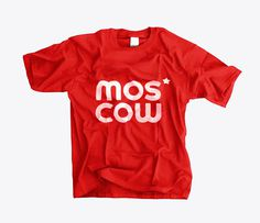 Moscow Logotype T-Shirt #logotype #red #city #soviet #russia #brand #star #moscow #logo #typography