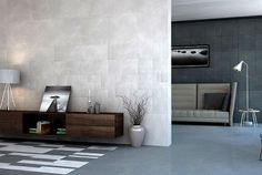 Leather Tiles Create Effect of Depth and Width - wallcoverings, tiles, #walls, wall decor