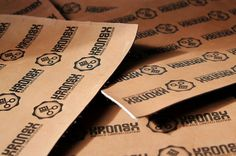 Leather Labels | Flickr - Photo Sharing! #engraved #laser #brand #leather #logo #kronex #typo