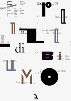 readymag stories: bruno monguzzi #poster #museum #graphicdesign #art #letters #type