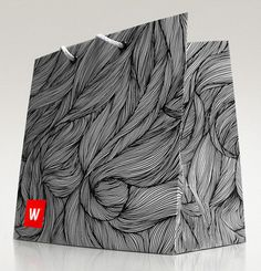 pg_woman1 #line #pattern #white #lines #b&w #packaging #black #hair #art #and #bag