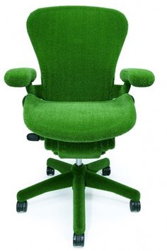 The AstroTurf Herman Miller Chair | Colossal #miller #grass #chair #design #furniture #industrial #herman