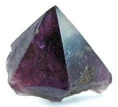 Minerals | Amethyst with Hematite inclusions from Canada