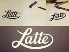 Latte by Sean McCabe Following #inspiration #creative #lettered #personalized #design #illustration #logo #hand