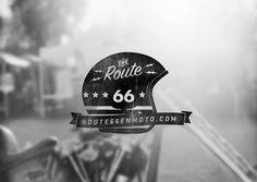 Route66 on the Behance Network #branding #helmet #route66 #com #identity #logo