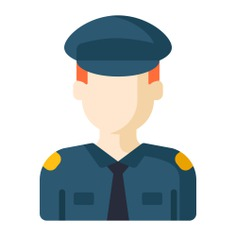 See more icon inspiration related to policeman, guard, man, guardian, policemen, person, avatar, business and finance, professions and jobs, avatars, whistle, occupation, police, security and people on Flaticon.