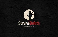 Survive Duluth — Cody Paulson #mark #typography #zombie #word #logo #moon