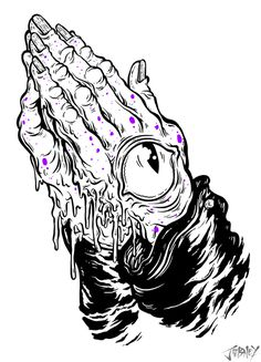 Praying Hands - THE ART OF JORDAN DEBNEY