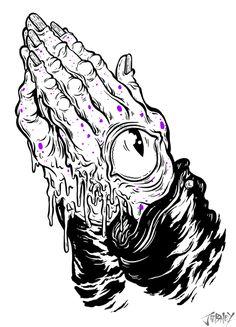 Praying Hands - THE ART OF JORDAN DEBNEY