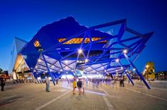 PERTH ARENA, A MULTIFUNCTIONAL STADIUM INSPIRED BY A PUZZLE #architecture